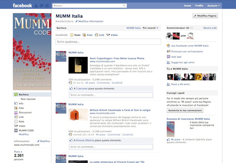Mumm Code Online Magazine Facebook