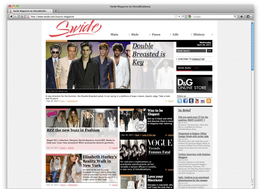 Swide Magazine by Dolce & Gabbana
